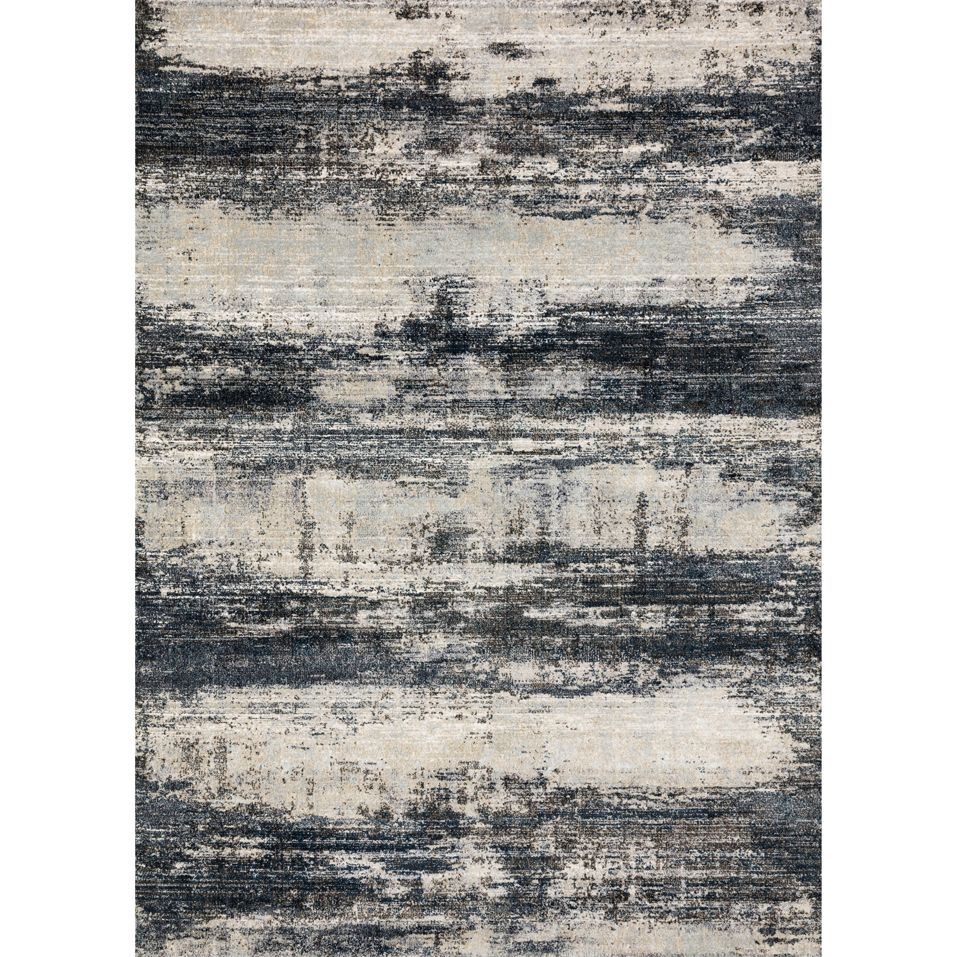"Augustus 2'7"" x 13' Navy / Stone Rug by Loloi Rugs at Virginia Furniture Market"