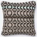 "Loloi Rugs Dhurri Style 18"" X 18"" Down Pillow - Item Number: DSETP0238BLGYPIL1"