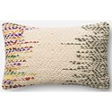 "Loloi Rugs Dhurri Style 13"" X 21"" Down Pillow - Item Number: DSETP0282ML00PIL5"