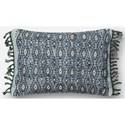"""Loloi Rugs Embellished 13"""" X 21"""" Down Pillow - Item Number: DSETP0407BBGYPIL5"""