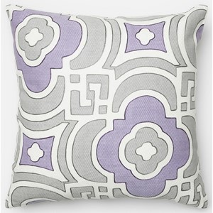 """Loloi Rugs Embroidery 18"""" X 18"""" Down Pillow"""
