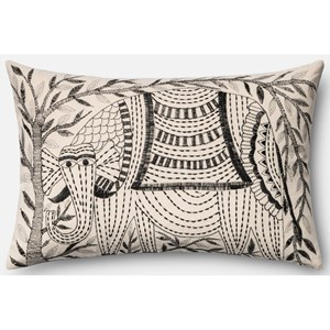 """Loloi Rugs Embroidery 13"""" X 21"""" Down Pillow"""