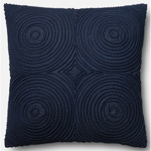 """Loloi Rugs Embroidery 22"""" X 22"""" Down Pillow"""