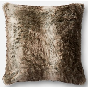 "Loloi Rugs Faux Fur 22"" X 22"" Down Pillow"