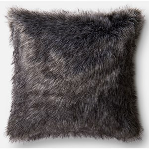 """Loloi Rugs Faux Fur 22"""" X 22"""" Cover w/Poly"""