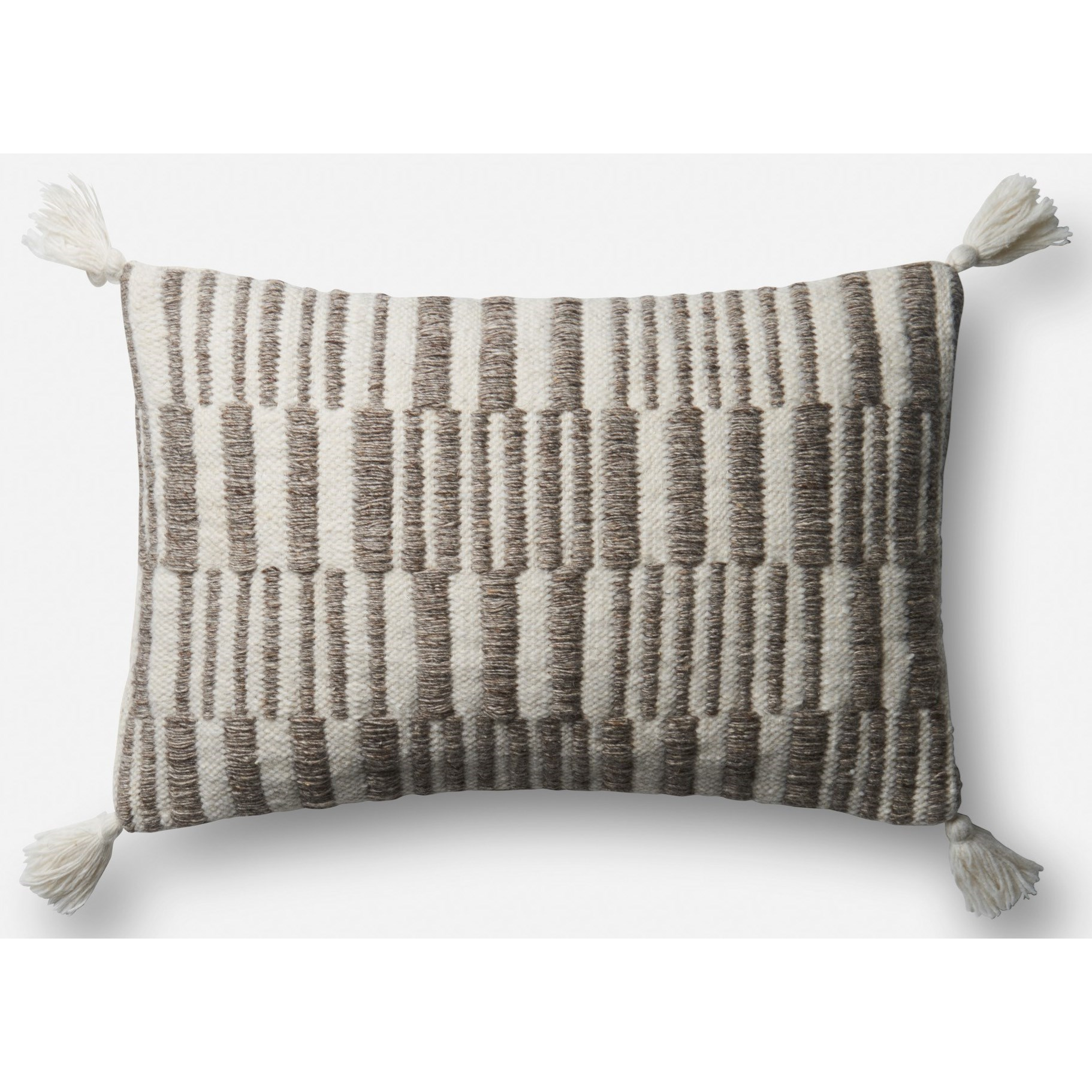 Loloi Rugs Indoor Outdoor Pillows 13 X 21 Brown Natural Pillow W Poly Fill Pedigo Furniture Throw Pillows