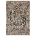 """Reeds Rugs Leigh 6'7"""" x 9'6"""" Charcoal / Taupe Rug - Item Number: LEIGLEI-03CCTA6796"""