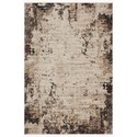 """Reeds Rugs Leigh 6'7"""" x 9'6"""" Ivory / Charcoal Rug - Item Number: LEIGLEI-05IVCC6796"""