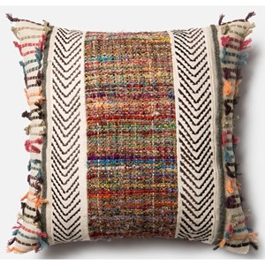 """Loloi Rugs Patchwork 18"""" X 18"""" Down Pillow"""