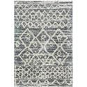 Reeds Rugs QUINCY 5-3 X 7-6 Graphite/Beige Area Rug - Item Number: QNCYQC-02GTBE5376