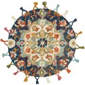 "Loloi Rugs Remy 3'-0"" x 3'-0"" Round Rug - Item Number: REMYRU-06NVLB300R"
