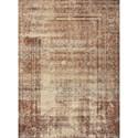 "Reeds Rugs Sebastian 2'5"" x 4' Natural / Brick Rug - Item Number: SEBASEB-05NABK2540"