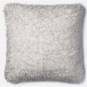 "Loloi Rugs Shag 22"" X 22"" Down Pillow - Item Number: DSETP0470WH00PIL3"