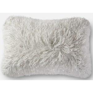 """Loloi Rugs Shag 13"""" X 21"""" Down Pillow"""