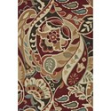 "Loloi Rugs Summerton 2'-3"" X 3'-9"" Scalloped Hearth Area Rug - Item Number: SUMRSRS09REML234D"