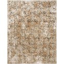 "Reeds Rugs Theia 7'10"" x 7'10"" Round Taupe / Gold Rug - Item Number: THEITHE-02TAGO7A0R"
