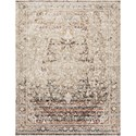 """Reeds Rugs Theia 1'6"""" x 1'6""""  Taupe / Brick Rug - Item Number: THEITHE-05TABK160S"""