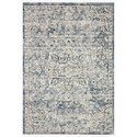 """Reeds Rugs Theory 5'3"""" x 7'8"""" Ivory / Blue Rug - Item Number: THRYTHY-02IVBB5378"""