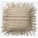 "Loloi Rugs Woven 18"" X 18"" Down Pillow - Item Number: DSETP0418GY00PIL1"