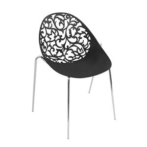 LumiSource Dining Room  Black Dahlia Side Chair