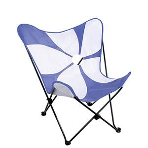 LumiSource Kids and Teen Furniture Printed Butterfly Chair with Metal Frame