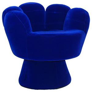LumiSource Living Room Accents Mitt Upholstered Hand Chair with Colorful, Youthful Design