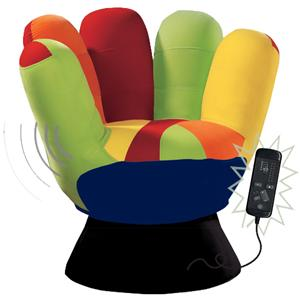 LumiSource Living Room Accents Vibrating Mitt Chair for a Unique Chair Style with a Massage-Like Component