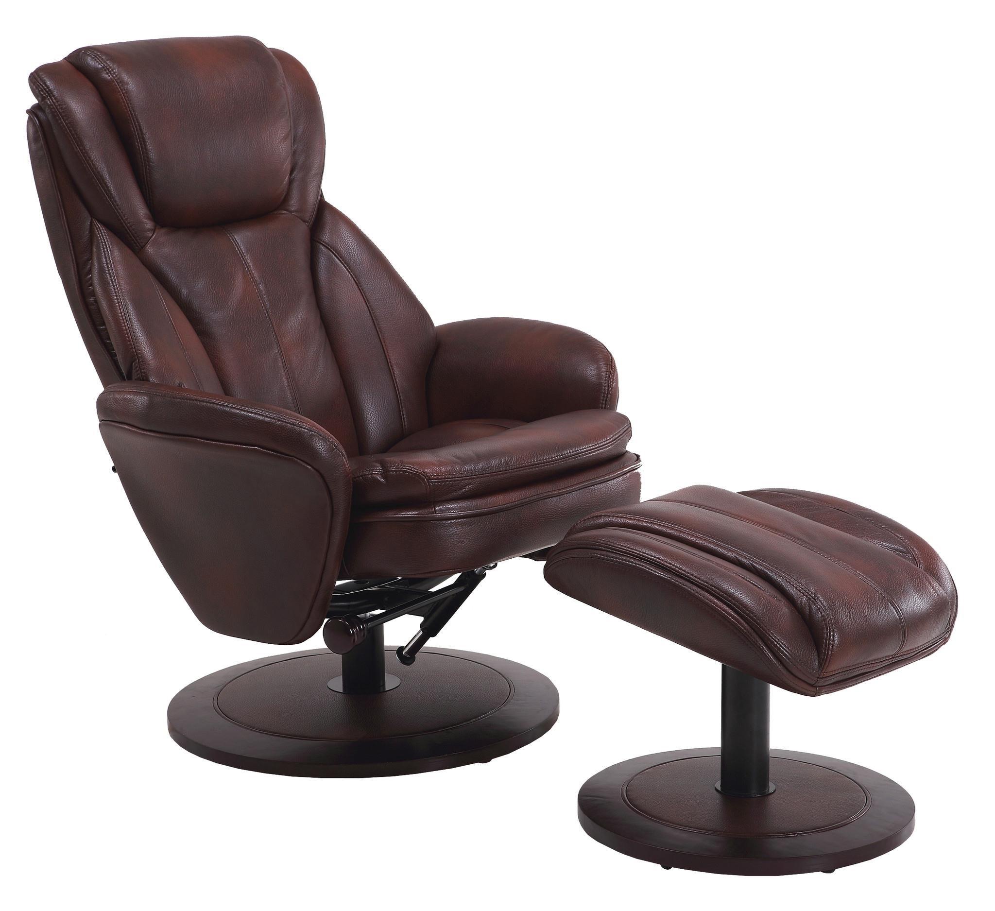 Mac Motion Chairs Reclining Chair & Ottoman Ruby Gordon