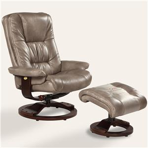 Oslo Collection Casa Reclining Chair And Ottoman With Hardwood Frame By Mac Motion  Chairs