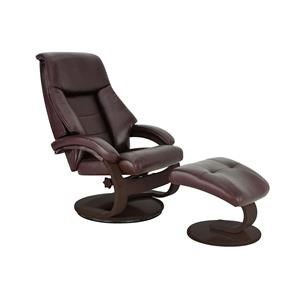 Mandal Leather Reclining Chair & Ottoman