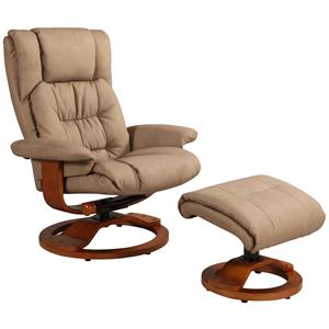 Oslo Collection Vinci Reclining Chair and Ottoman with Hardwood Frame by Mac Motion Chairs