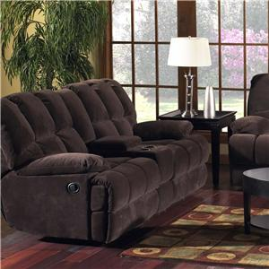 Madison Park 201 Group Reclining Loveseat with Console