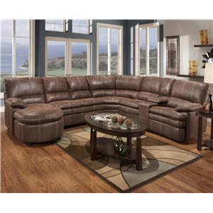Madison Park 233 6 Piece Motion Sectional Group