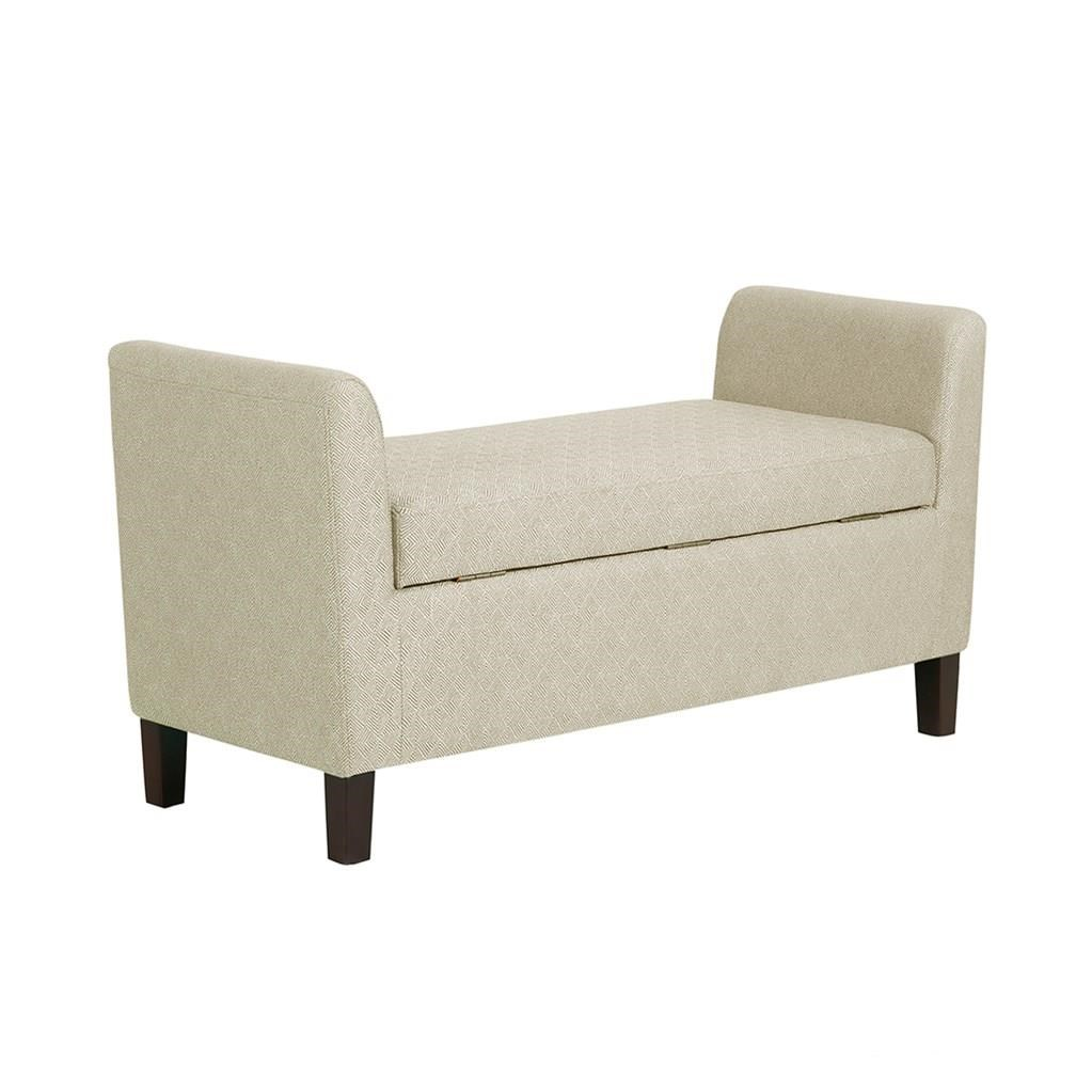 Madison Park Accessories Upholstered Storage Bench - Item Number: FPF18-0523