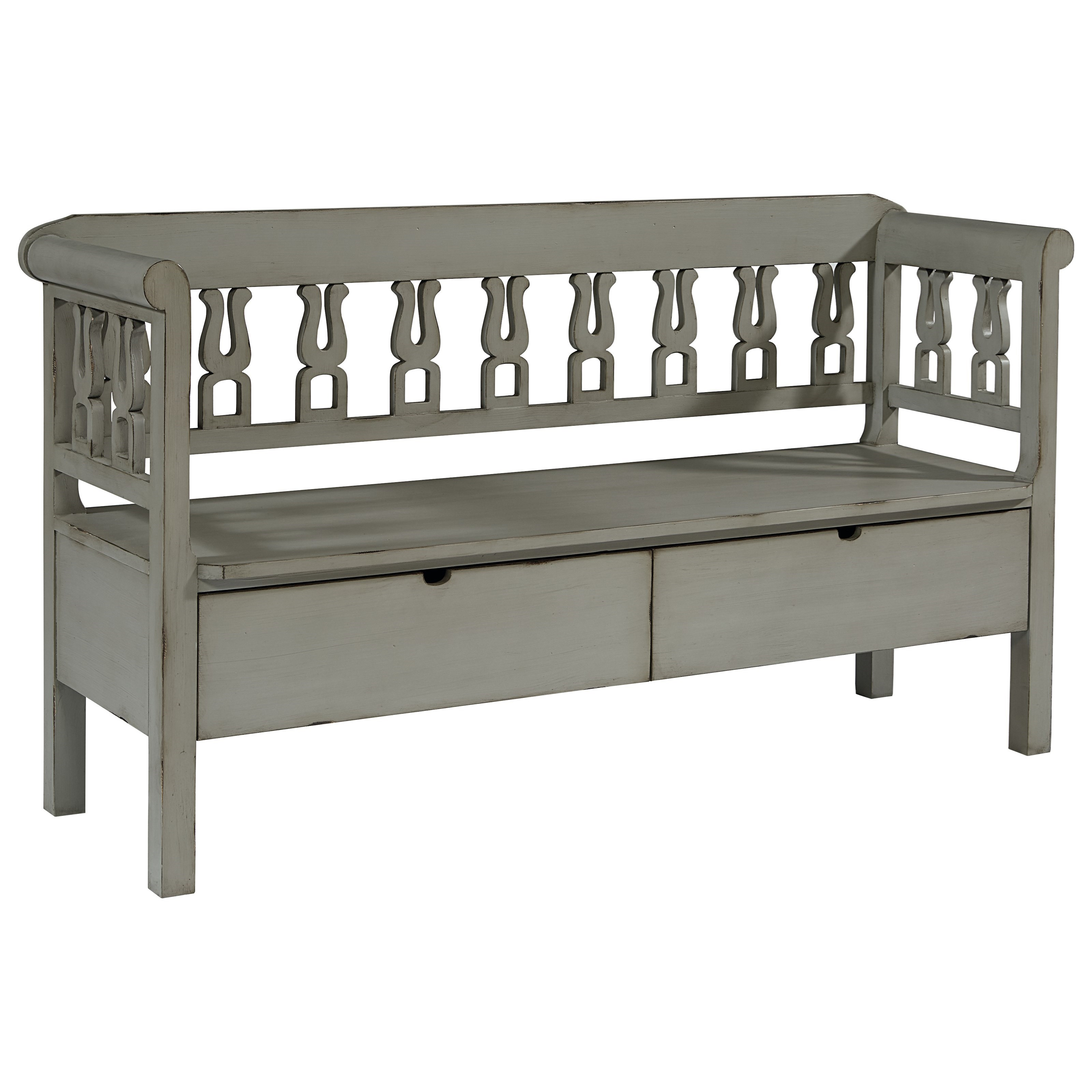 Magnolia Home by Joanna Gaines Accent Elements Bench with Storage - Item Number: 8030102F