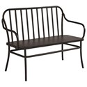 Magnolia Home by Joanna Gaines Accent Elements Metal Cafe Bench - Item Number: 8030602M