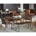 Magnolia Home by Joanna Gaines Boho 6' Hairpin Dining Table with Metal Hairpin Legs
