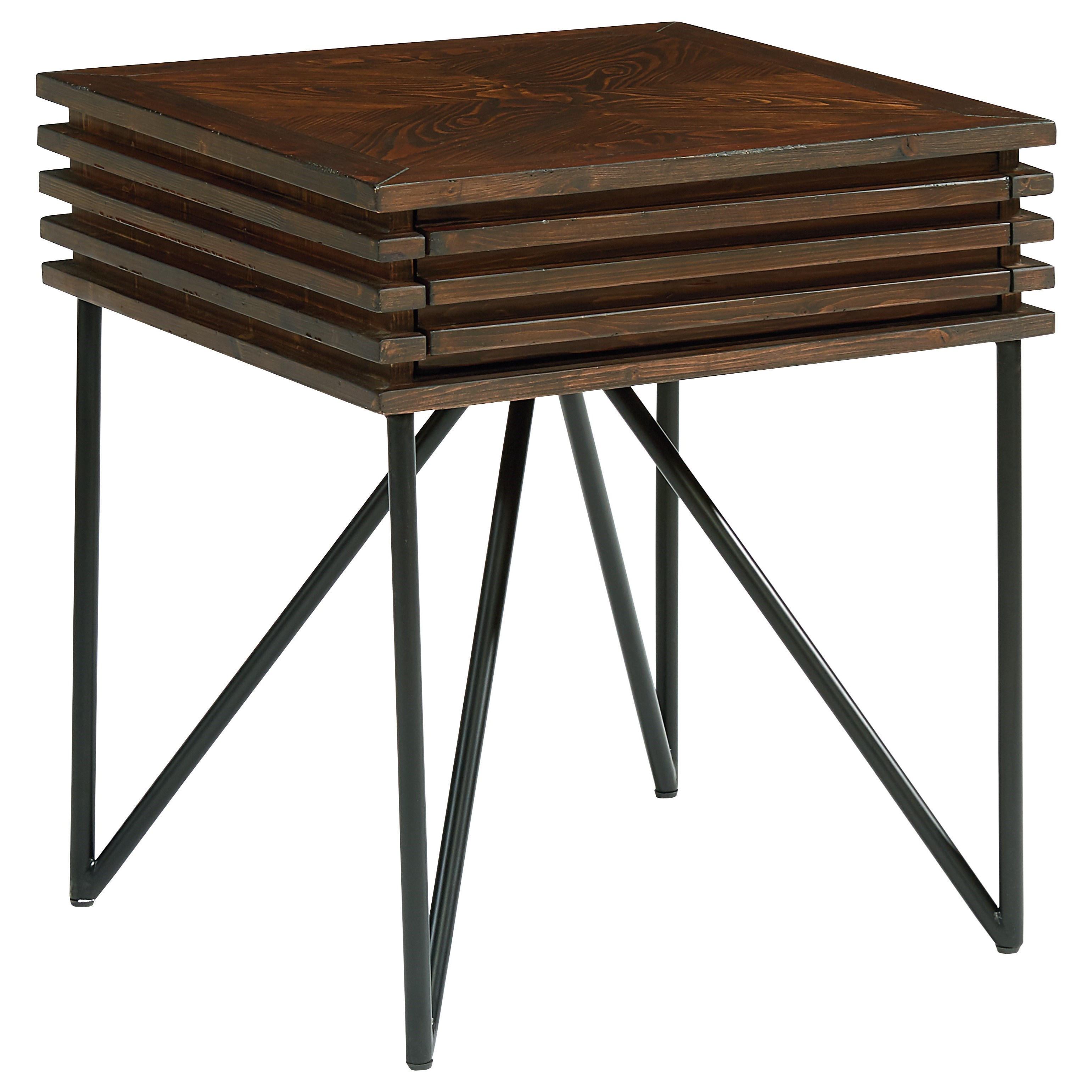Magnolia Home by Joanna Gaines Boho Stacked Slat Side Table with Drawer - Item Number: 5070202N