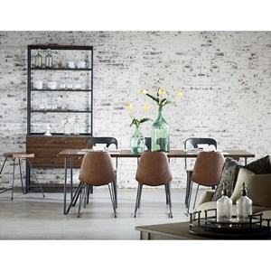 Magnolia Home by Joanna Gaines Boho Dining Room with Molded Shell Chairs