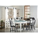 Magnolia Home by Joanna Gaines Farmhouse Dining Table with 8 Keeping Drawers and Tapering Legs