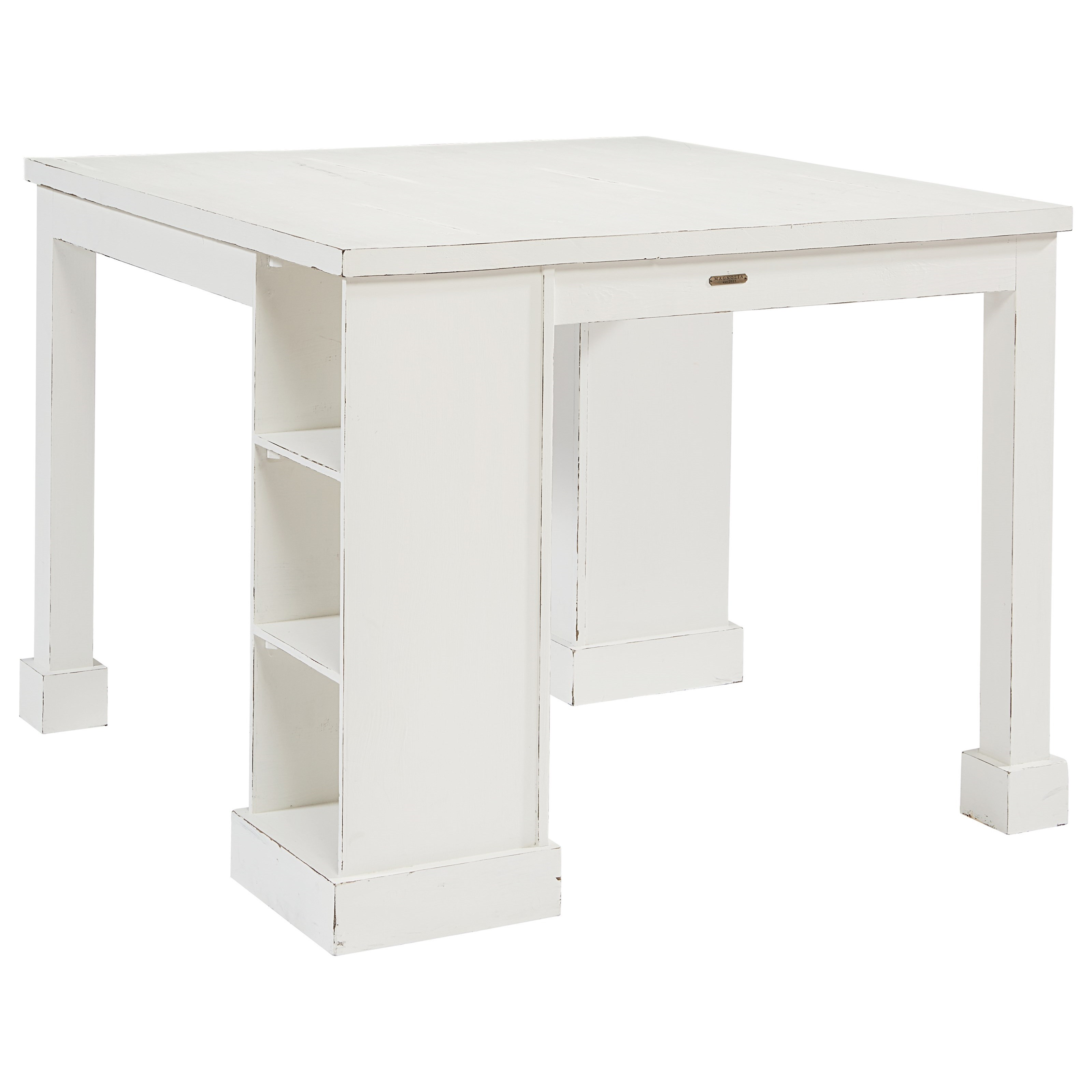 magnolia home by joanna gaines farmhouse craft table with corner