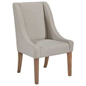 Demi-Wing Upholstered Side Chair