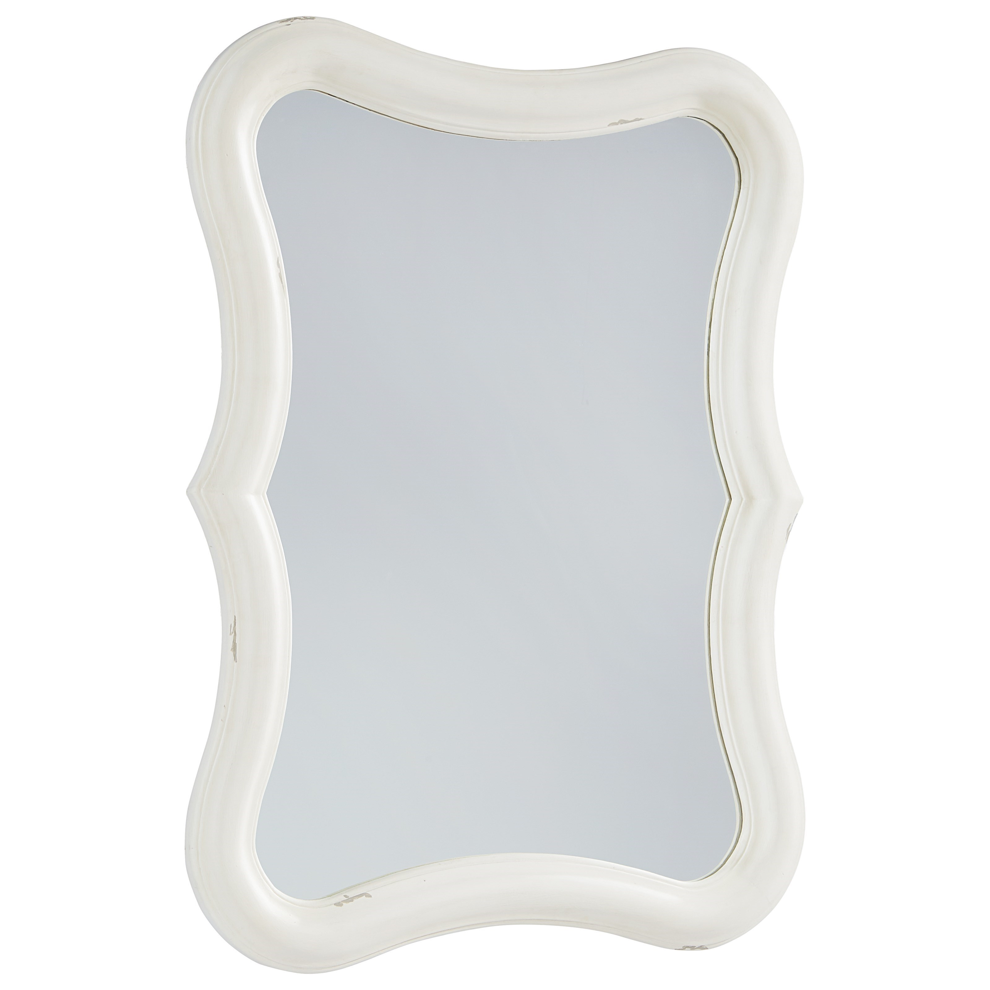 Magnolia Home by Joanna Gaines French Inspired Silhouette Mirror - Jo's White - Item Number: 3070108B