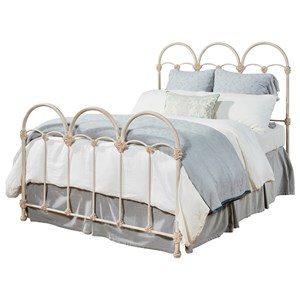 Magnolia Home by Joanna Gaines French Inspired Queen Rosette Iron Bed
