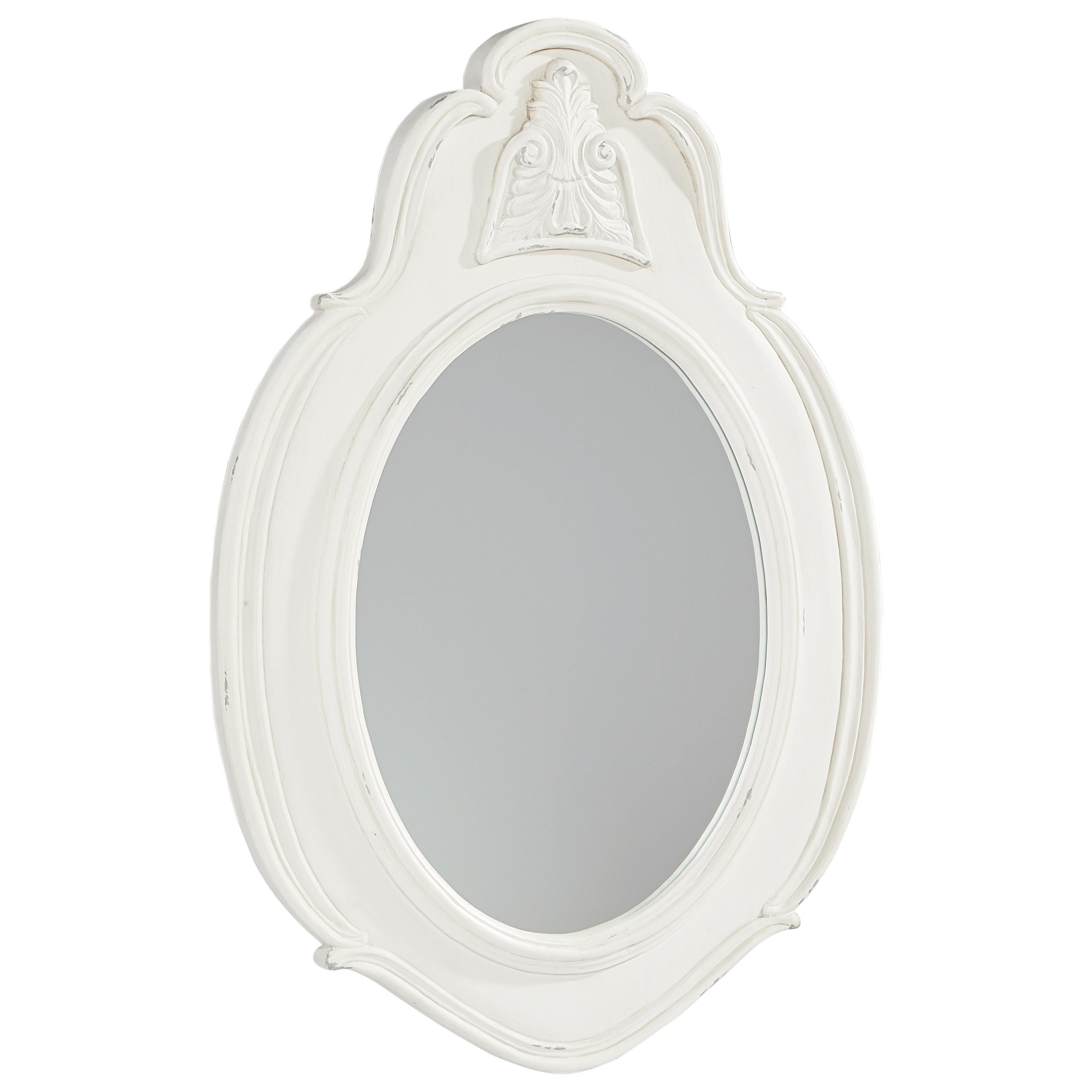 Magnolia Home by Joanna Gaines French Inspired Small Cameo Mirror - Jo's White - Item Number: 3070508B