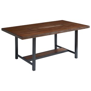 Magnolia Home by Joanna Gaines Industrial Dining Table with Zinc Planter