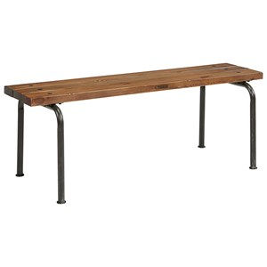 Magnolia Home by Joanna Gaines Industrial Plank Bench