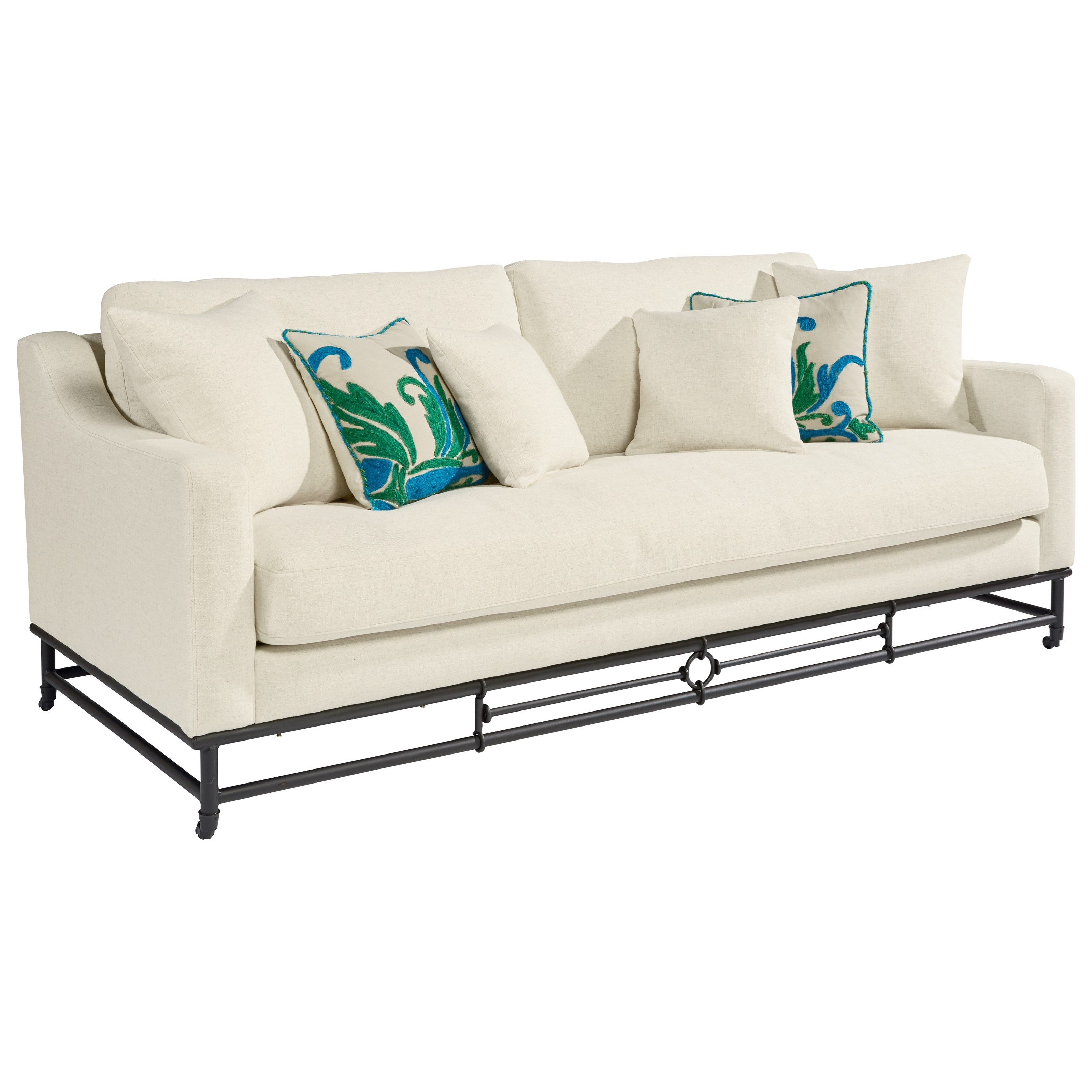 Clearwater Mattress Stores Magnolia Home by Joanna Gaines Ironworks Sofa - Hudson's Furniture ...