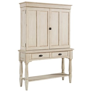 Magnolia Home by Joanna Gaines Primitive Taper Turned Console and Cupboard Hutch