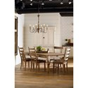 Magnolia Home by Joanna Gaines Primitive 7 Foot Taper Turned Dining Table - Table Shown May Not Represent Exact Size Indicated